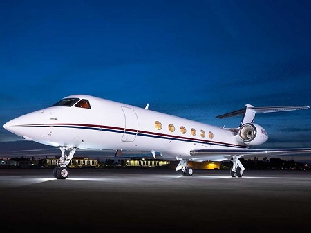 Mickelson has a Gulfstream jet of $60 million