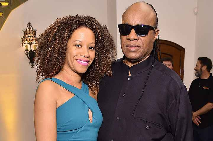 Aisha Morris' step mother and her father Stevie Wonder. partner, married, relationship