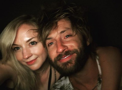 Emily Kinney with her boyfriend Paul McDonald. partner, spouse, husband, relationship