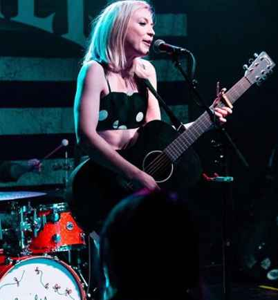 Emily Kinney during her concert. career, professional life
