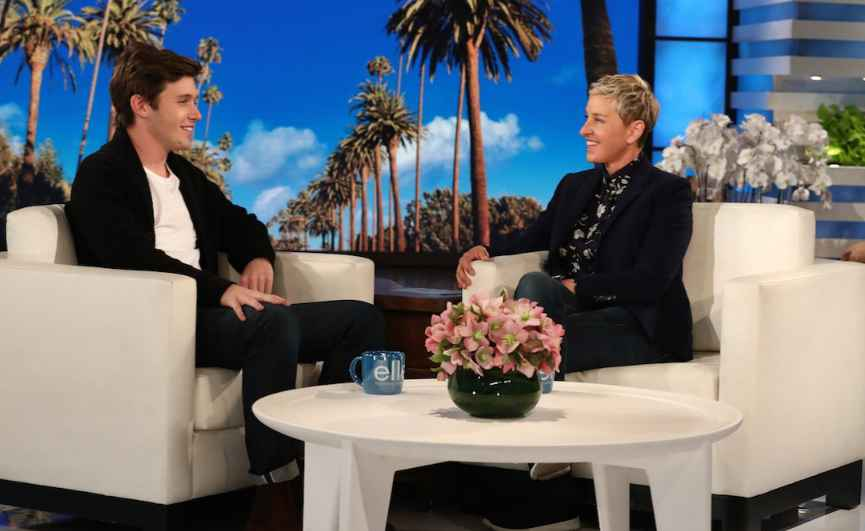 Denise Podnar's son Nick in an Ellen Show. children, kids