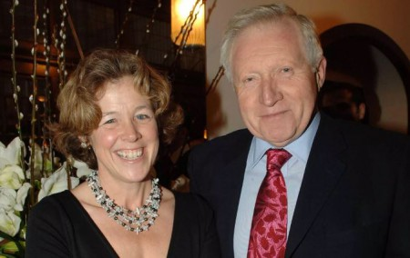 David Dimbleby with his second and current wife, Belinda Giles; Know about their personal life
