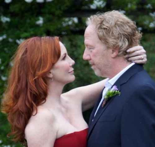 Timothy Busfield with his wife Melissa during their wedding day. wife, partner