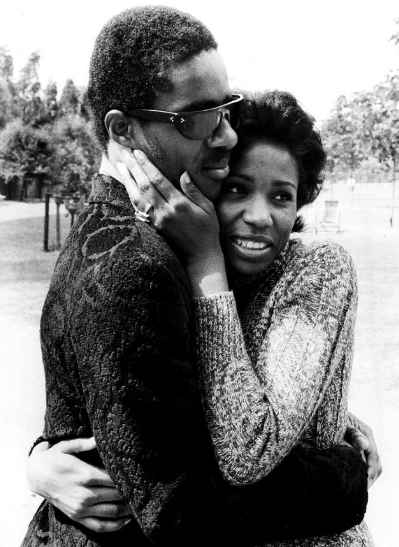 Syreeta Wright with her first husband Stevie Wonder. husband, spouse, relationship, partner ex-husband