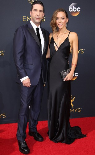 David Schwimmer with his former wief Zoe Buckman. wife, aprtner, spouse