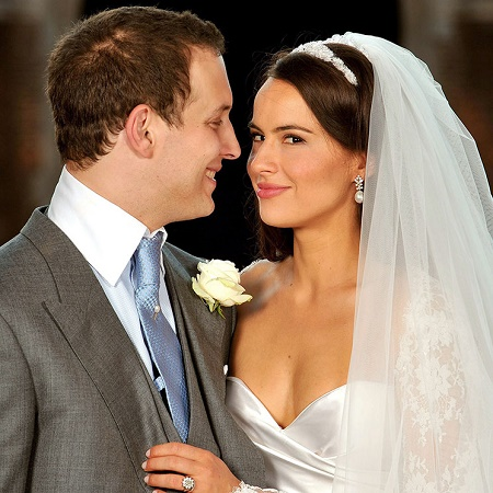 Sophie Winkleman and Lord Frederick Windsor on their wedding day. The bride and groom looks extremely beautiful in their nuptial dresses.