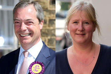Nigel Farrage's second and former wife, Kirsten Farage