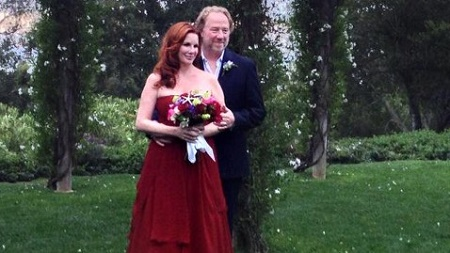 Melissa Gilbert with her third husband, Timothy Busfield