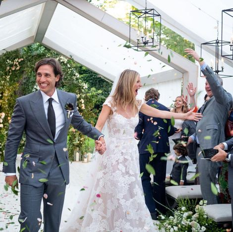Gwyneth Paltrow's wedding with her second husband, Brad Falchuk