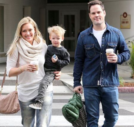 Hilary Duff with ex-husband, Mike and their son