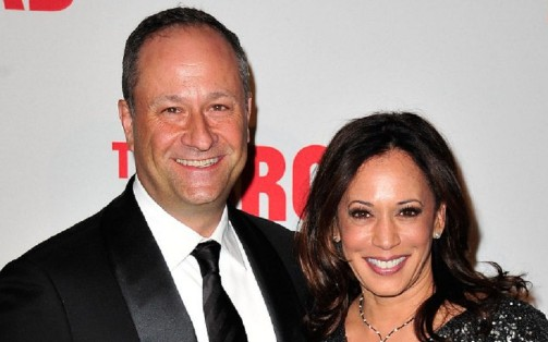Kamala Harris with her husband.
