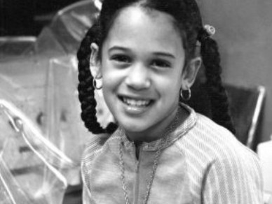 Kamala Harris during her childhood.