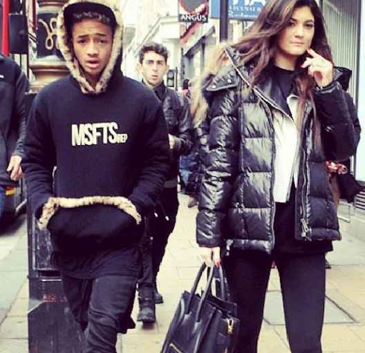 Jaden with Kylie Jenner back in 2013.