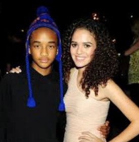 Jaden Smith with his first girlfriend.