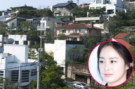 Kim Tae-hee has a beautiful in the neighborhood of Seoul