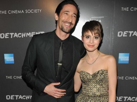 Sami Gayle with co-star, Adrien Brody