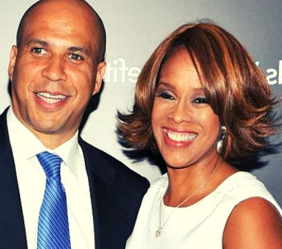 William Bumpus' ex-wife Gayle King with Corey Booker