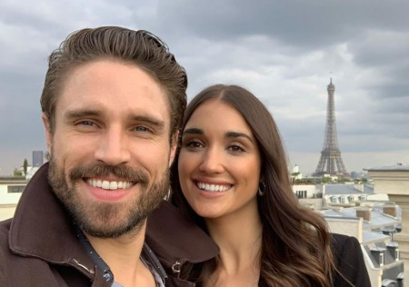James with his wife in Paris