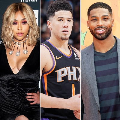 Jordyn Woods, Tristan and Devin Booker.