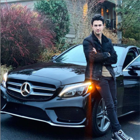 Picture: Gavin Leatherwood with his extortionate car