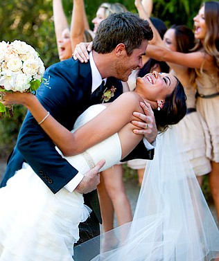 Odette Annable during her wedding day