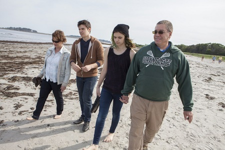 Nicole Maines with her parents, Kelly and Wayne Maines and a brother, Jones Maines