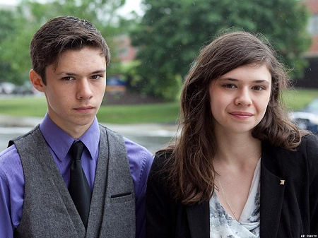 Nicole Maines with her twin brother, Jones Maines