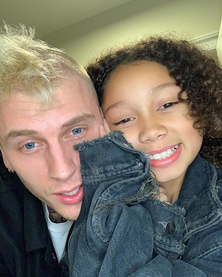 Casie Colson Baker and his father, MGK
