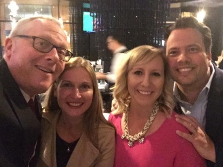 Maryna Ponomarenko and her spouse, Michael Caputo, with their friends
