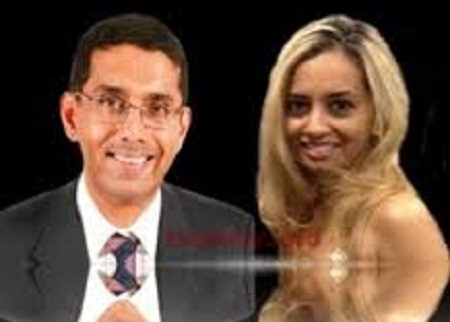 D'Souza was engaged to Denise Odie Joseph while he was still married to Brubaker.