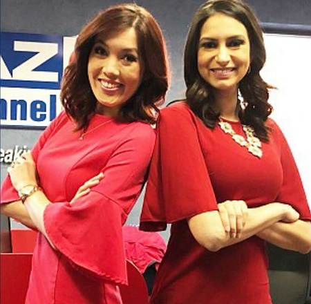 Weather girl Chelsea Ambriz and TV anchor Erica Bivens in bar brawl ended with multiple damages.