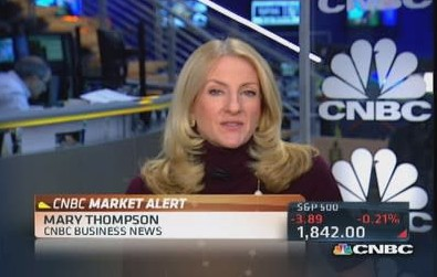 Mary Thompson while working in CNBC as a reporter