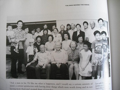 Lee Kuan Yew's family. Lew along with his father, grand pparents, and great grand parents