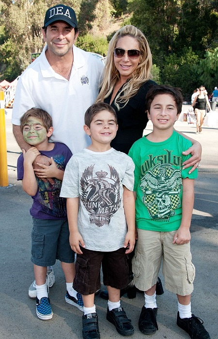 Paul Nassif with his ex- wife and three children
