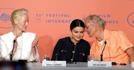 From left to right; Tilda Swinton, Selena Gomez, and Bill Murray