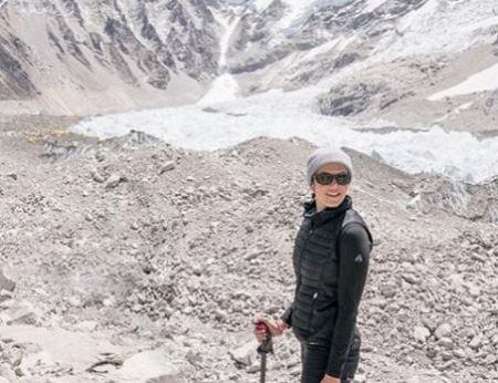 Mandy Moore on Everest Base Camp in Nepal