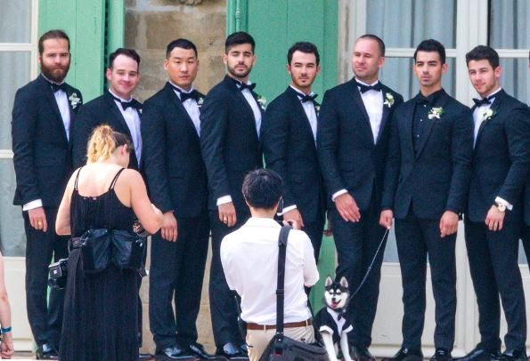 Groomsmen at Joe Jonas wedding