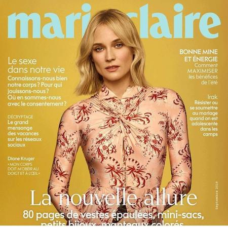 Diane Kruger featured in the cover of Marie Claire magazine