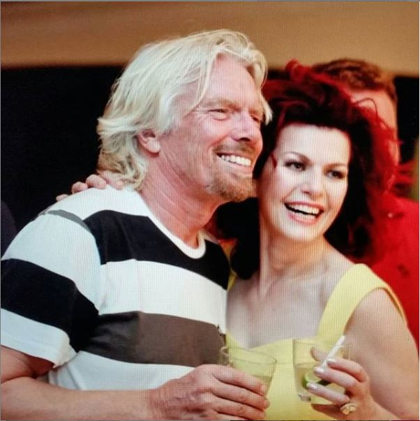 Cleo Rocos and Richard Branson