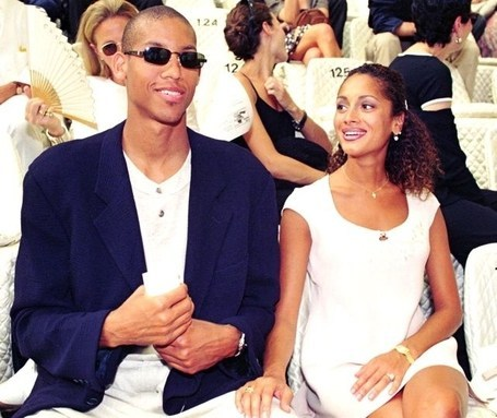 Reggie Miller with his ex-wife Marita Stavrou