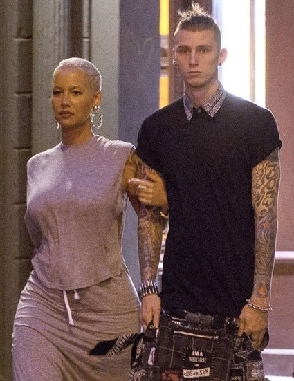 MGK, along with Amber in an outing