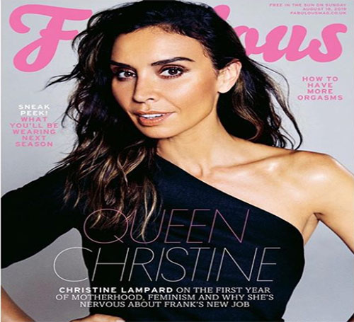 Christine Lampard as a cover model in Fabolus magazine