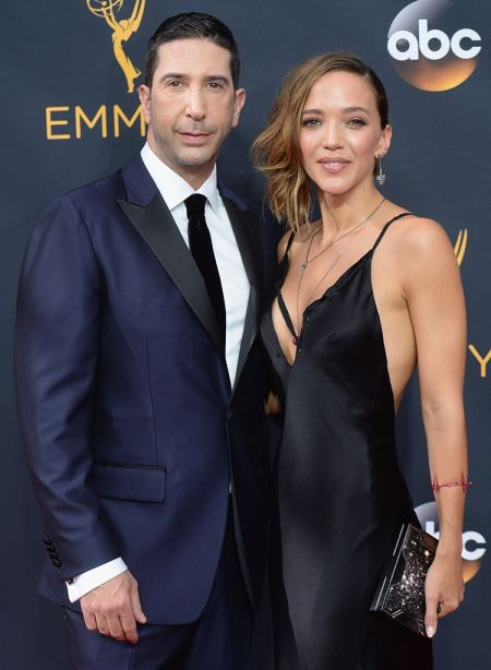 Carla Alapont with his wife, Zoe Buckman at 2016 Emmy Award Ceremony