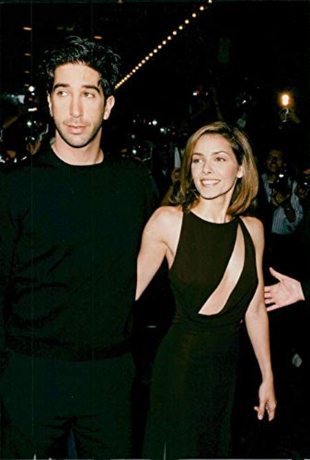 David Schwimmer and Mili Avital together