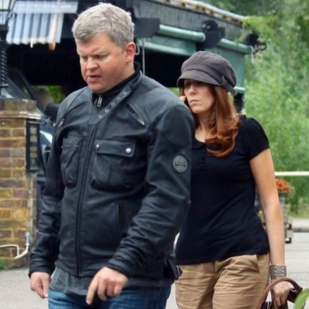 Tate with her ex-boyfriend, Adrian Chiles