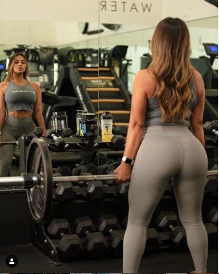 Miss Dolly Castro at Gym