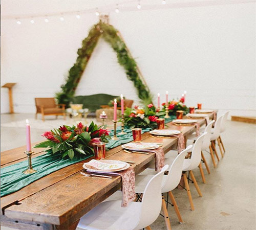 One of the event styled by The Blooming House Team