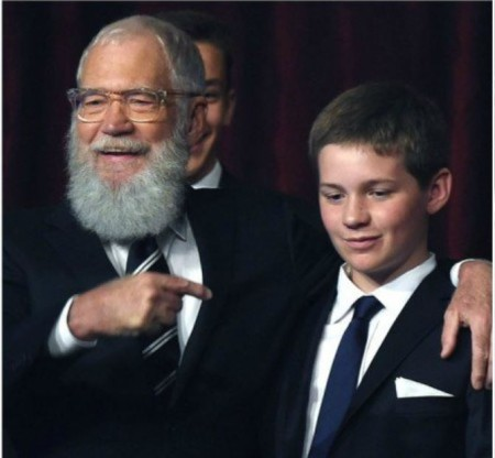 David Letterman is proudly showing his son, Harry Joseph Letterman