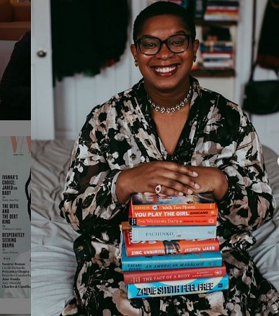 Image: Ashley C. Ford showing her book collection. Source: Instagram