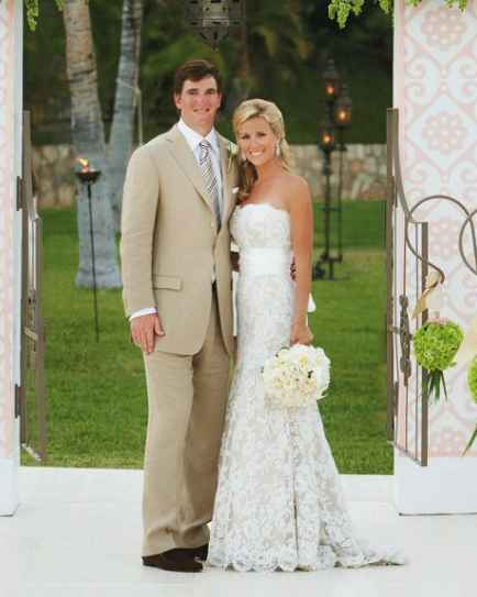 Abby Mcgrew and her husband during their wedding. tie a knot, husband, partner